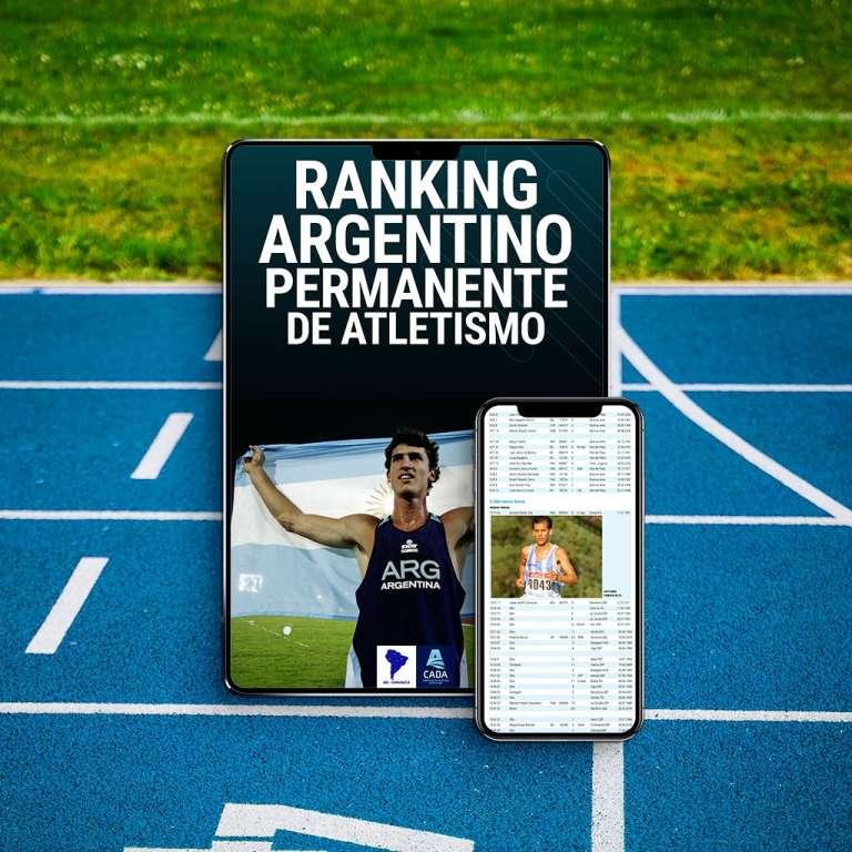 CADA nuevo libro, Ranking Argentino Permanente de atletismo. 1