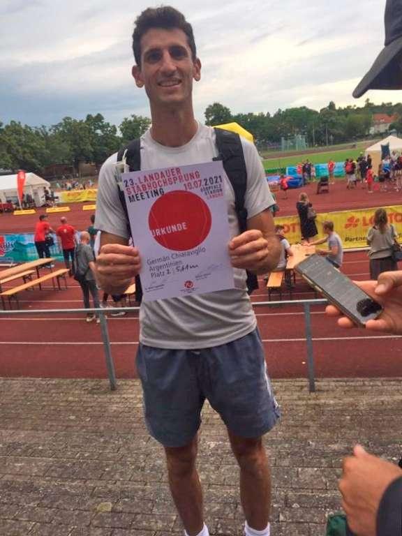 Germán Chiaraviglio, 5.61m en Alemania 6