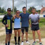 Mracela Gomez con Cardona Castelblanco y Jeisson Suarez en Paipa