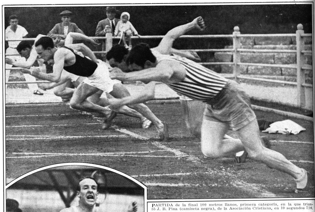 Juan Pina, un argentino en la semifinal olímpica de los 100 metros 2