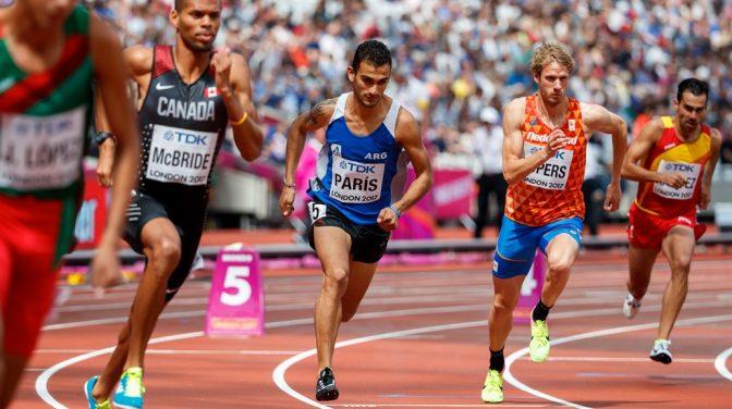Leandro Paris ganó los 800m en Palencia 1