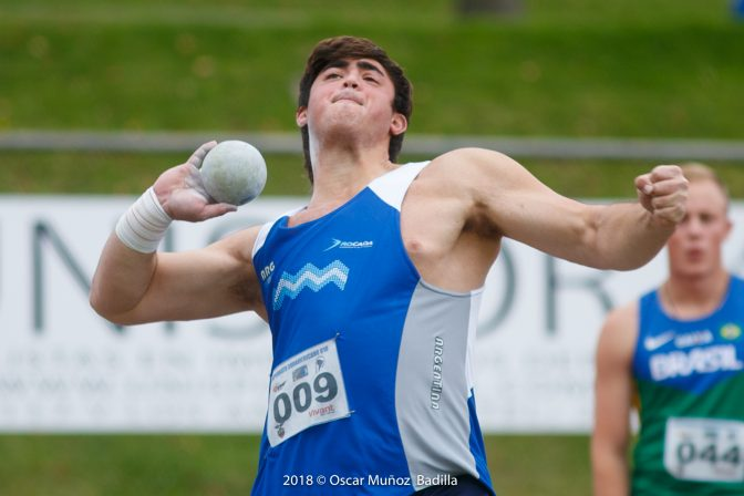 Nazareno Sasia, nuevamente sobre los 20 metros, y récords de Kloster 1