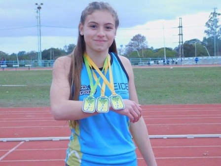 Victoria Zanolli pasó los 6 metros en largo 1