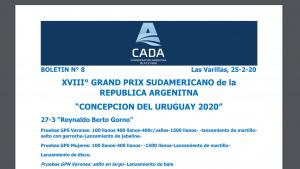Boletín informativo CADA